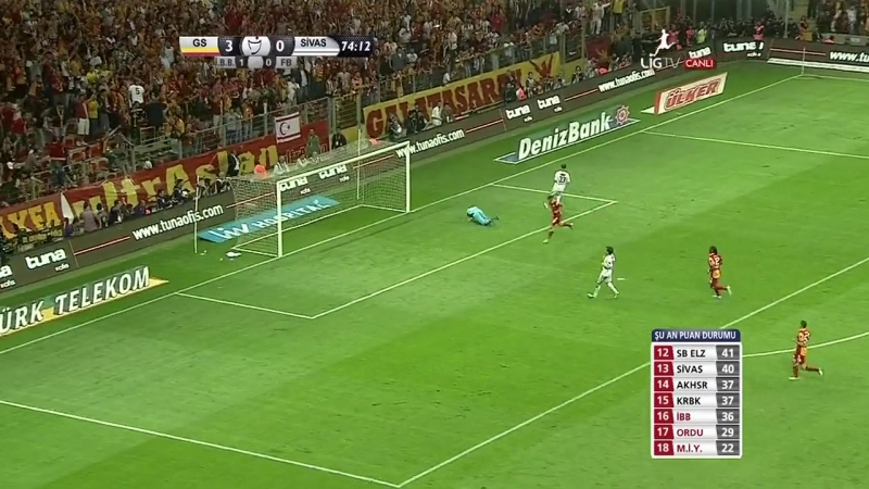 Galatasaray Sivasspor 2 2 2012 13 32 34