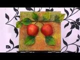 Como Hacer un Cuadro de Manzanas sobre Retablo - HogarTv por Juan Gonzalo Angel