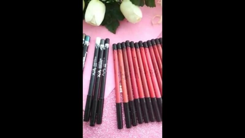 Видио обзор набора карандашей Kylie waterproof longlasting eyelip liner pencil 24 шт_full