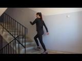 Ягодицы ноги. Тренировка на ступеньках в подъезде