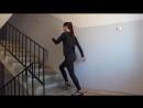 Ягодицы ноги Тренировка на ступеньках в подъезде