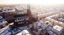 Zima w Legnicy z lotu ptaka