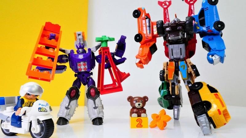 Tobot Giga Galvatrona karşı. Transformers oyuncakları