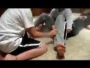 Three Boy Feet Tickle