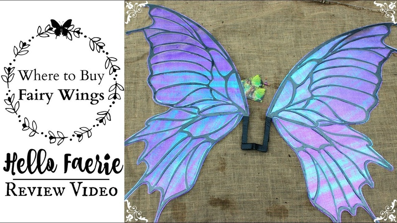 Hello Faerie Wings Review Unboxing Video WHERE TO BUY REALISTIC FAIRY WINGS FOR COSPLAY COSTUMES