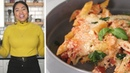 Ayesha Curry's Holiday One-Pan Penne Primavera Recipe • Tasty