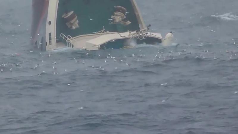 Норвежское море гибель корабля 2013г. июль.
