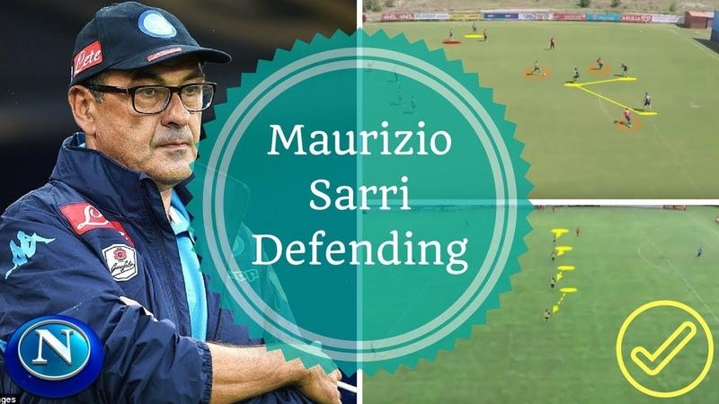 Maurizio Sarri Training SSC Napoli Defending Positioning Allenamento di Calcio Difensore