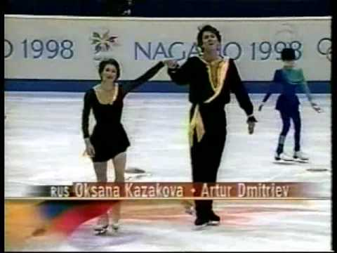 1998 Nagano Olympics Pairs FS - Oksana Kazakova / Artur Dmitriev