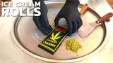 Weed Ice Cream Rolls with HEMP Cannabis Marijuana Cnusper Chocolate - no smoke weed satisfying