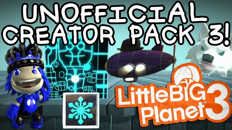 LBP3 Unofficial Creator Pack 3! Background Changer, Skin Materials, Freezatron, More!
