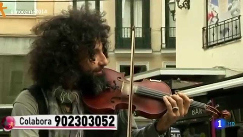 Ara Malikian tocando en la calle Madrid
