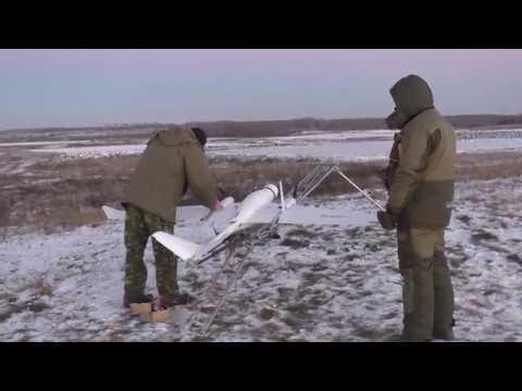 Боевая работа БАК Бусел МБ 2 на военном полигоне