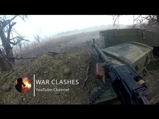 [military archive] ukraine war - helmet cam firefight: combat footage in ukrainian trenches