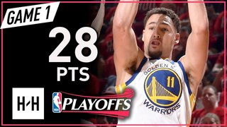 Klay Thompson Full Game 1 Highlights Warriors vs Rockets 2018 NBA Playoffs WCF - 28 Points!