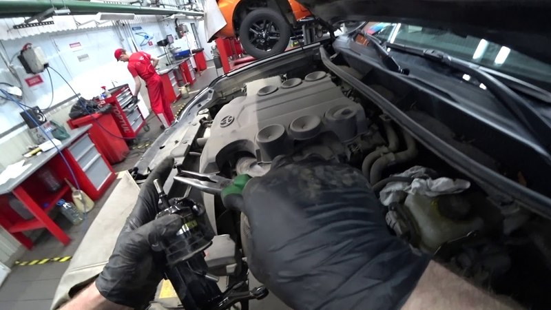 ТЦЛ. LC150 Мотор 1GR-FE. Замена топливного фильтра.