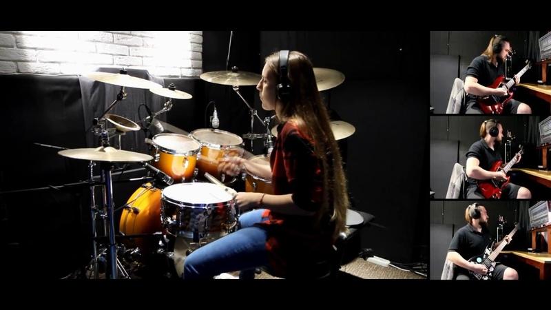 Rammstein - Te Quiera Puta cover (Drum cover by my student) Vitalina Popova.