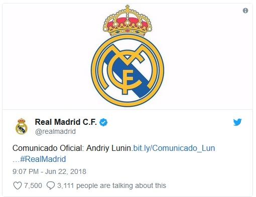 Лунин в Реале