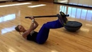Miranda's koala exercise works your abs with a body bar. Try it for our May Fitness Challenge!