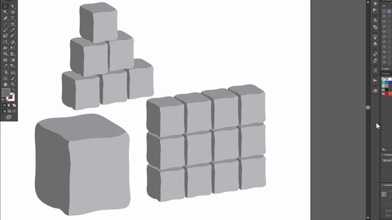 Stone block texture - Adobe Illustrator cs6 tutorial. How to create nice vector design
