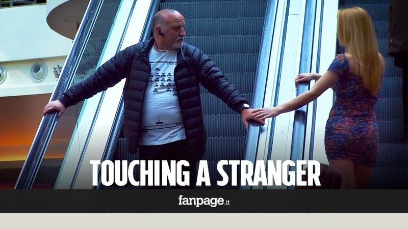 What happens when you touch a stranger on the escalator