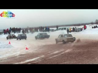 Рев моторов, визг тормозов.. Зимний автокросс на острове Краснофлотский.