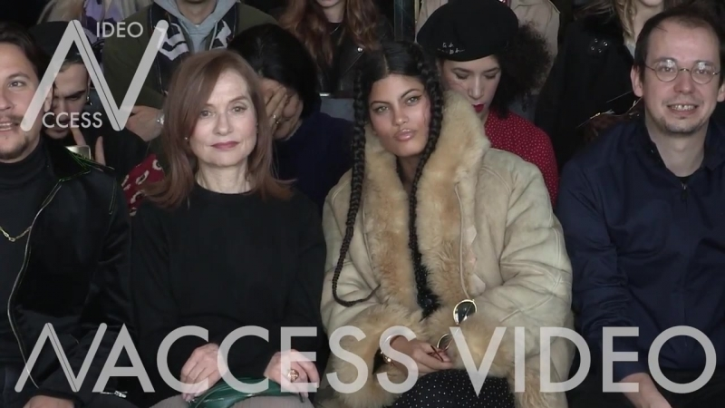 Isabelle Huppert, Nekfeu and more Front Row for the Agnes B Fashion Show in Paris