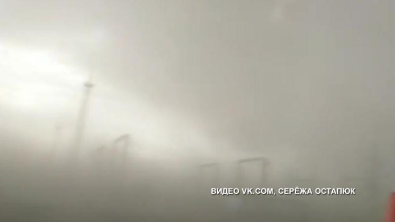 Жуткое видео из эпицентра урагана сняли липчане