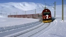 Live Train 24/24 Train Driver's View : Cab Ride in the World Line Railway in WINTER ! Best Great