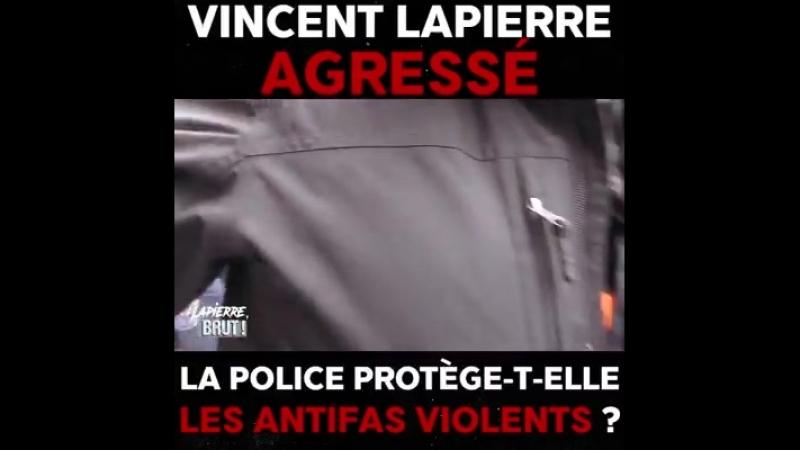 Quand des antifas ultra agressifs ordonnent aux policiers dévacuer un reporter pacifiste