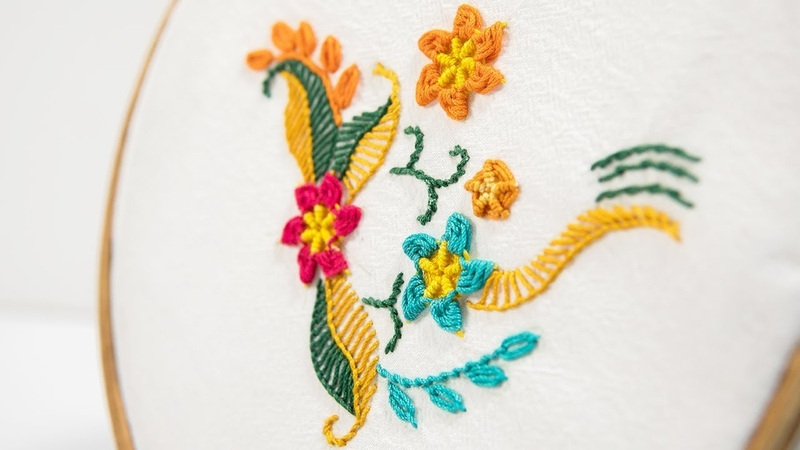 Beautiful ways to stitch Hand Embroidery Flowers by DIY Stitching