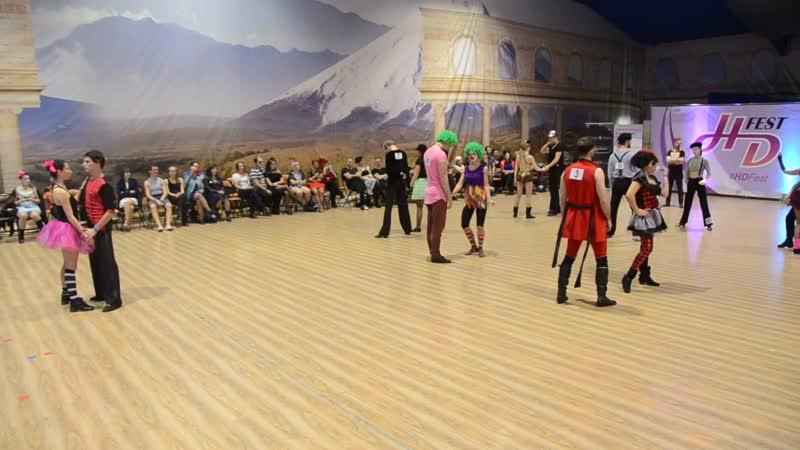 Хастл, Discofox, HDfest 2018, Strictly Open, 14 финала, заход 1, танец 2