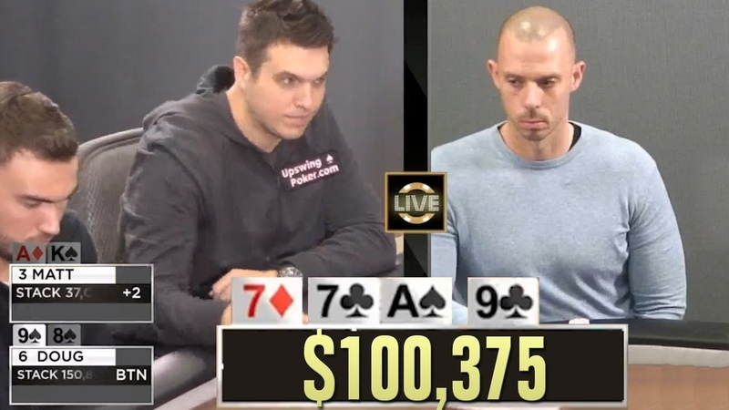 Feuding Poker Players Fight Over A $100,000 Pot