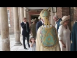 Members of the Royal Family arrive at St Jamess Palace for the christening of Prince Louis..mp4