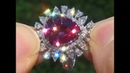GIA Certified UNHEATED Natural VVS Color Change Garnet Diamond 18k White Gold Ring - A141593