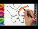 Рисуем клубничку и бабочку