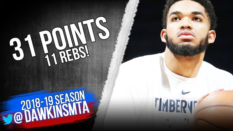 Karl-Anthony Towns Full Highlights 2018.12.10 Warriors vs TWolves - 30 Pts, 11 Rebs! FreeDawkins