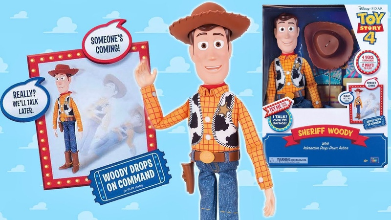 Toy Story 4: Sheriff Woody with Interactive Drop-Down Action ReViEw (Someone's coming!)