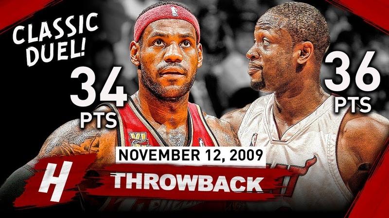 LeBron James vs Dwyane Wade CLASSIC FRIENDSHIP DUEL 2009.11.12 - EPIC Highlights!