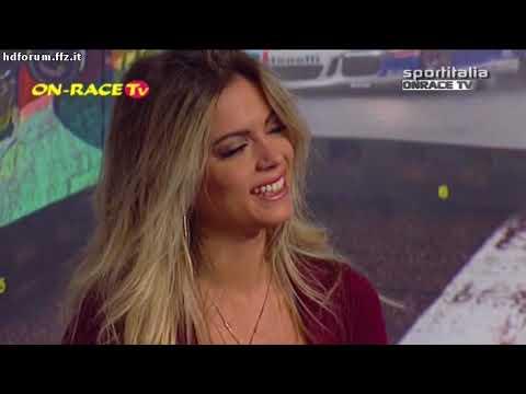 Ludovica Pagani - scollatissima con minigonna a On Race TV 08-10-2017