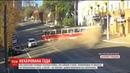 На Дніпропетровщині трамвай зійшов з рейок розкрутився та вилетів на тротуар