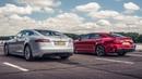 Tesla Model S vs Kia Stinger GT S Drag Races Top Gear