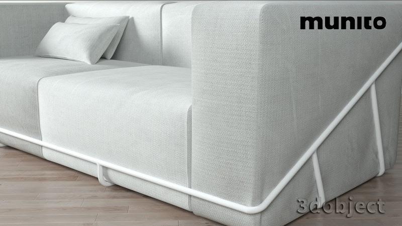 3d моделирование каркасного дивана Munito в 3dsMax   3d modeling   Frame Sofa for munito