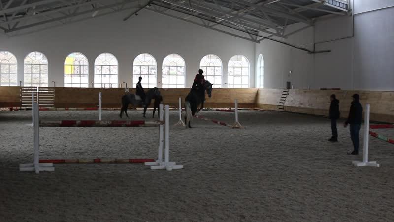 Конкурная тренировка, прыжки до 130 см, конный клуб Rider, конь Купидон, 2014 г.