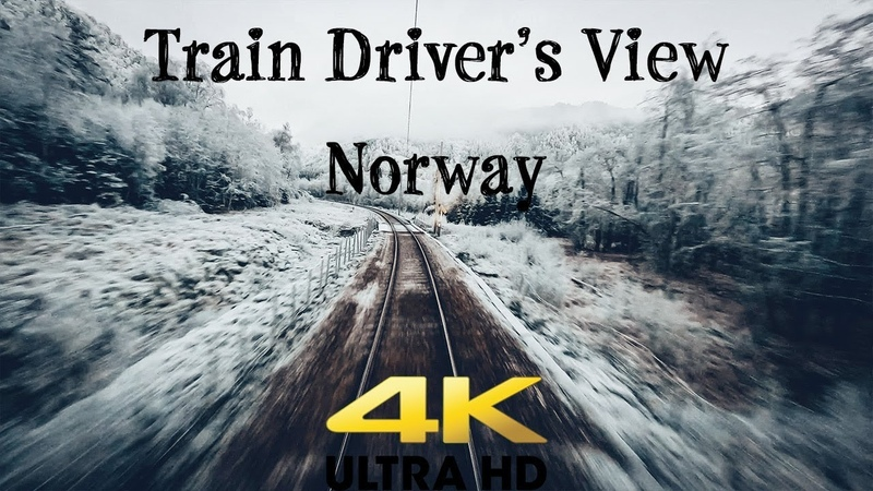 Train Drivers View Early morning sparkling commute in 4K UltraHD