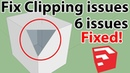 How to Fix Clipping and missing faces issues in Sketchup