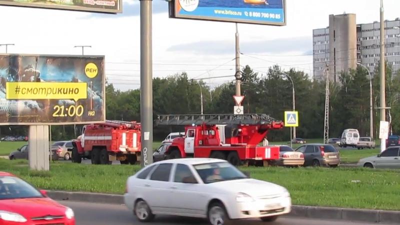 На адрес 7 Выезд пожарных Тольятти по тревоге и проезд сквозь пробку