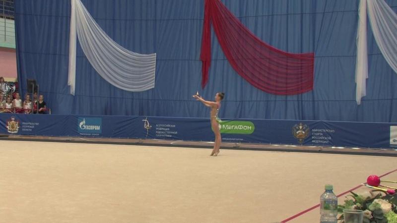 Травкина Ульяна, булавы, 06.10.18г. г.Рязань, Всероссийские соревнования Юные гимнастки