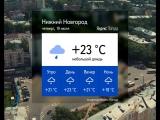 Погода в Нижнем Новгороде и области на 19.07.18.