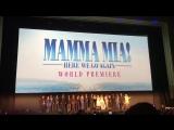 Аманда и каст на премьере фильма Мамма Миа! Это снова мы в Лондоне, Великобритания 16. 07.18